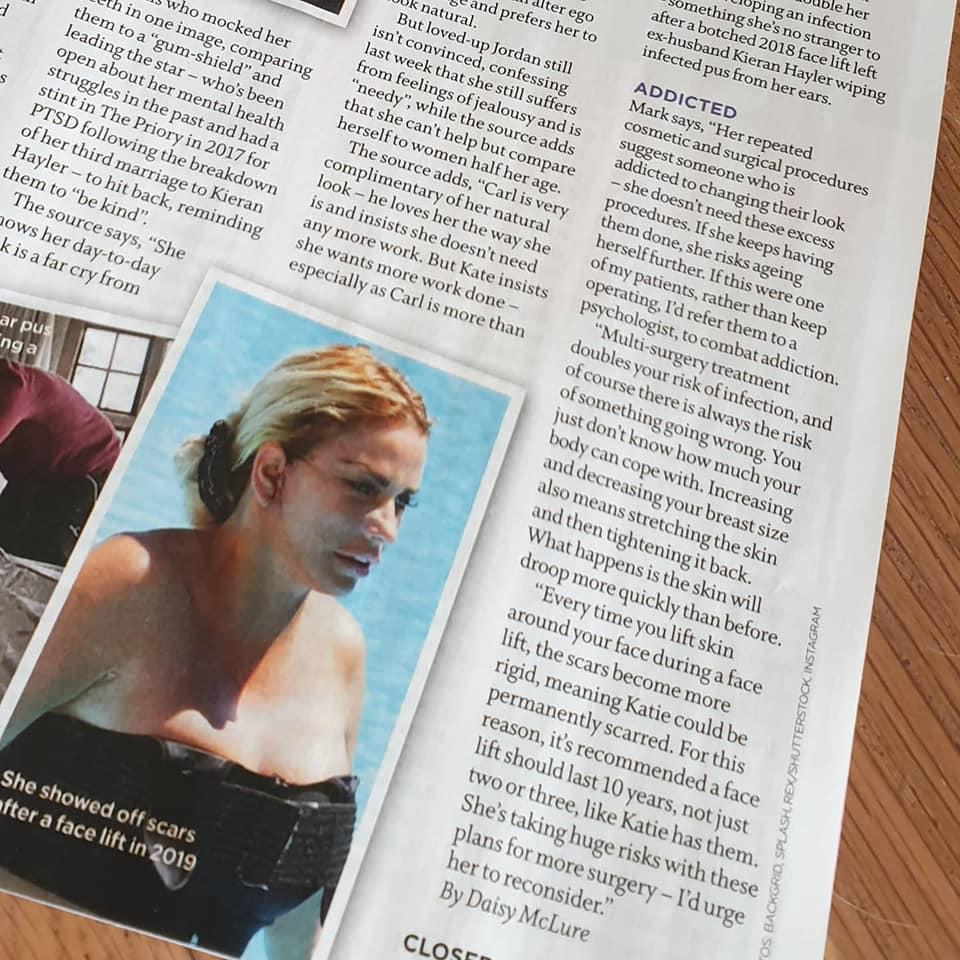 Closer Magazine - Jordan comments